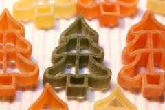 Pâtes d'arbre de Noël Photographie stock