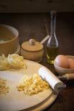 pâtes d'oeufs Images stock