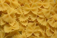 Pâtes d'oeufs sous forme de papillon Photo stock