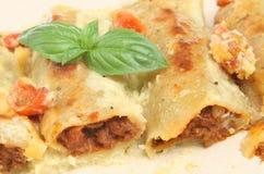 Pâtes de Cannelloni Image libre de droits
