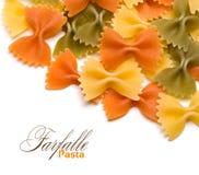 Pâtes de Farfalle Photographie stock libre de droits
