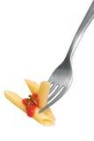 pâtes de fourchette photographie stock libre de droits