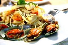 Pâtes de fruits de mer Photos libres de droits