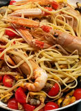 Pâtes de fruits de mer Image libre de droits