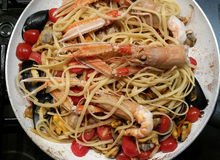 Pâtes de fruits de mer Image stock