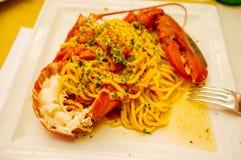 Pâtes de homard Image libre de droits