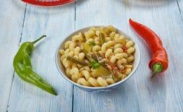 Pâtes de macaronis de Masala photographie stock