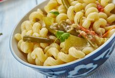 Pâtes de macaronis de Masala photos libres de droits