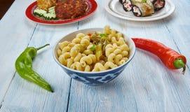 Pâtes de macaronis de Masala image stock