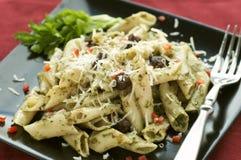 Pâtes de Pesto Photos stock