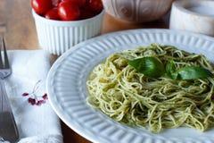 Pâtes de Pesto Images stock