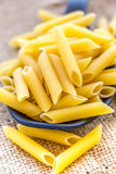 Pâtes de rigate de Penne Photo stock