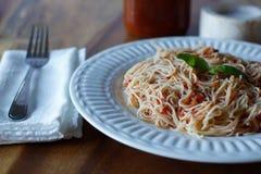 Pâtes de tomates Image stock