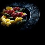 Pâtes de Tricolore Photos libres de droits
