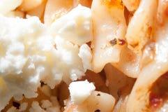 Pâtes et fromage en spirale Images stock