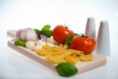 Pâtes et légumes Image stock