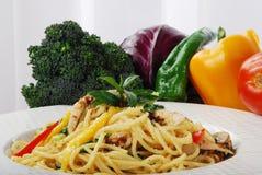Pâtes et légumes Image libre de droits