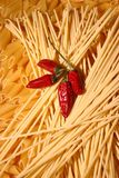 Pâtes et poivrons photo stock