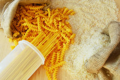 Pâtes et riz Photos libres de droits