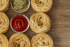 Pâtes et sauces Image stock
