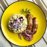 Pâtes et saucisse Photographie stock libre de droits