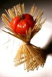 Pâtes et tomate Photographie stock libre de droits