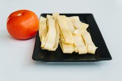 Pâtes et tomate fraîches Photos libres de droits
