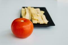 Pâtes et tomate fraîches Image libre de droits