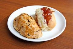 Pâtes feuilletées (Peynirli Pogaca) Images libres de droits