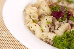 Pâtes Fiottarini (pâtes avec de la viande frite) Image libre de droits