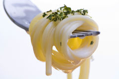 pâtes fraîches de fourchette Photographie stock libre de droits