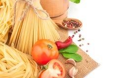 Pâtes italiennes Image libre de droits