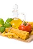 Pâtes italiennes avec la tomate Photo stock