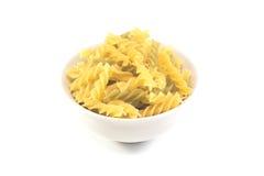 Pâtes italiennes d'isolement sur le blanc Photo stock