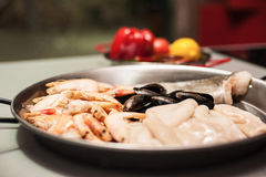 Pâtes italiennes de fideua Image stock