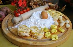 Pâtes italiennes de nourriture Photographie stock
