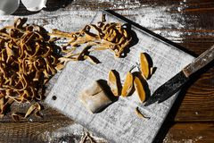 Pâtes italiennes faites maison Image stock