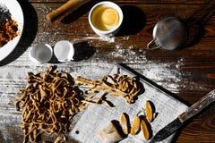 Pâtes italiennes faites maison Photographie stock libre de droits