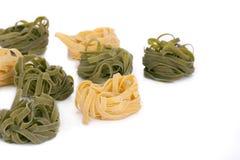Pâtes italiennes savoureuses de tagliatelles Images libres de droits