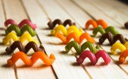 Pâtes multicolores Images libres de droits
