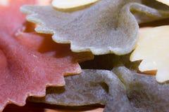Pâtes multicolores de Farfalle Photos libres de droits