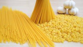 Pâtes, spaghetti et ail Photos libres de droits