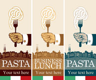 Pâtes sur la fourchette Image libre de droits