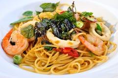 Pâtes thaïes de fruits de mer Photo libre de droits