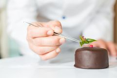 Pâtisserie avec un gâteau Photographie stock