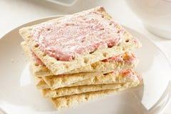 Pâtisserie chaude de grille-pain de fraise Image stock