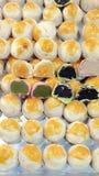 Pâtisserie chinoise avec le dessert de boulangerie de jaune d'oeuf Images libres de droits