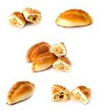 Pâtisserie cuite au four bourrée par chou Image libre de droits