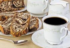 Pâtisserie de café et de chocolat Image libre de droits
