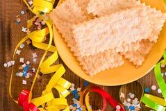 Pâtisserie de carnaval photographie stock libre de droits